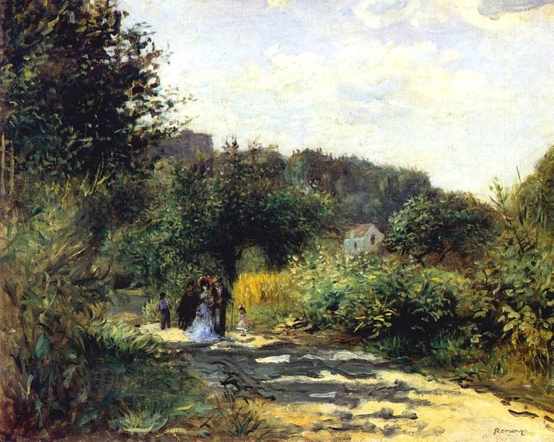 Renoir, Une route à Louveciennes