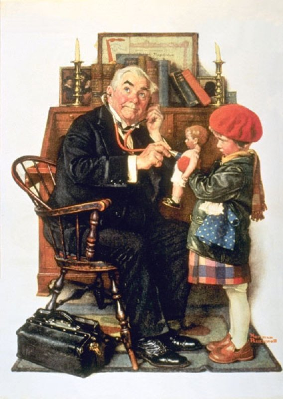 Rockwell, Docteur et poupée - Doctor and doll