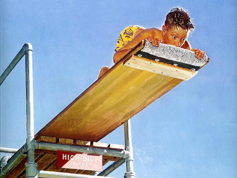 Rockwell, Le grand plongeoir - Boy on high dive