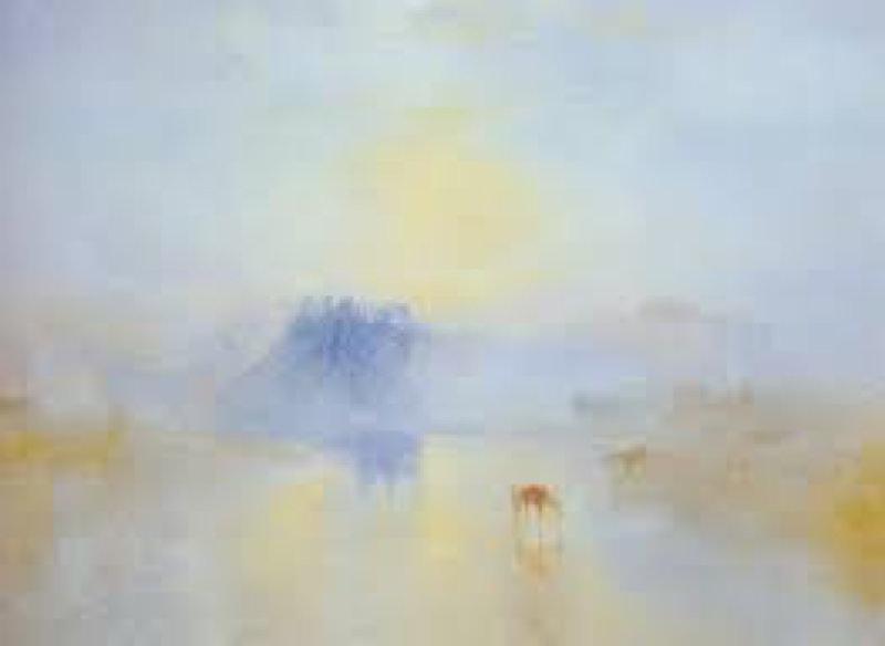 Turner, Chateau de Norham, Lever du soleil