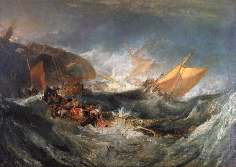 Turner, L'épave d'un navire de transport