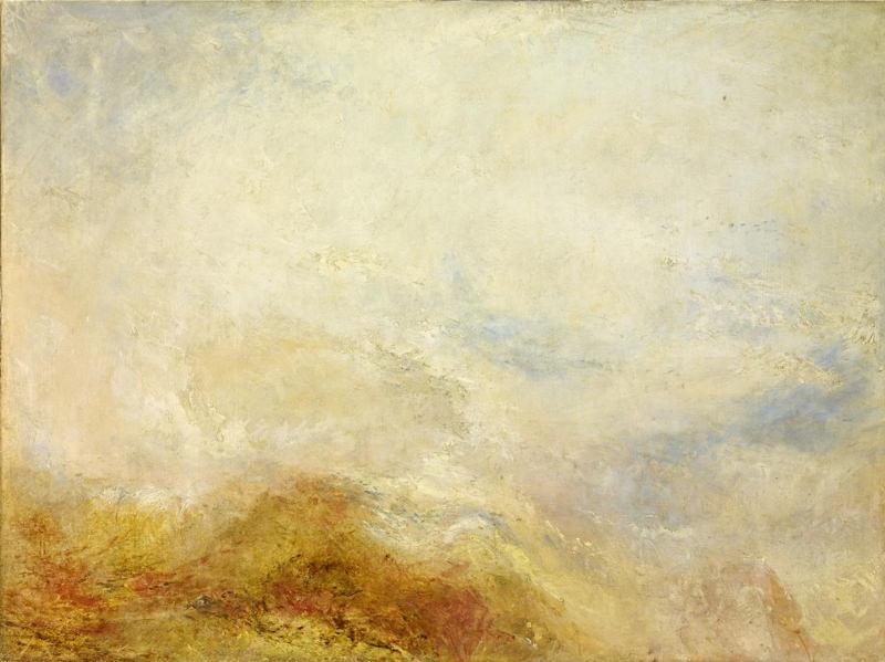 Turner, Lever du soleil avec des monstres marins