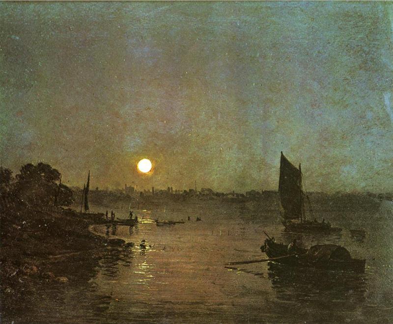 Turner, Moonlight, une étude à Millbank
