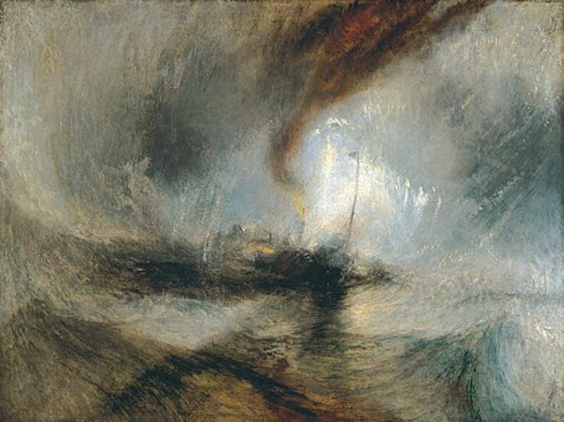 Turner, Tempête de neige - Bateau à vapeur au large d'un port