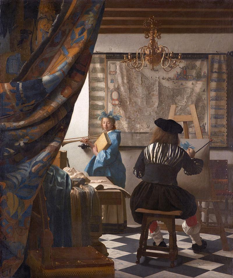Vermeer, Artiste dans son studio