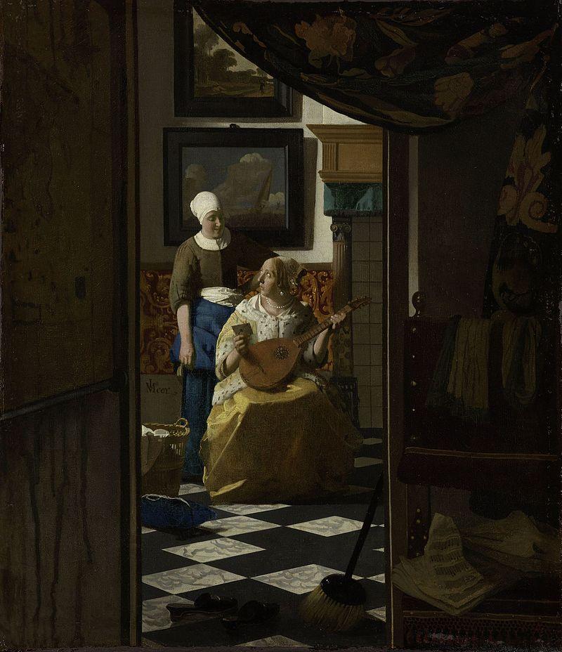 Vermeer, La lettre d'amour