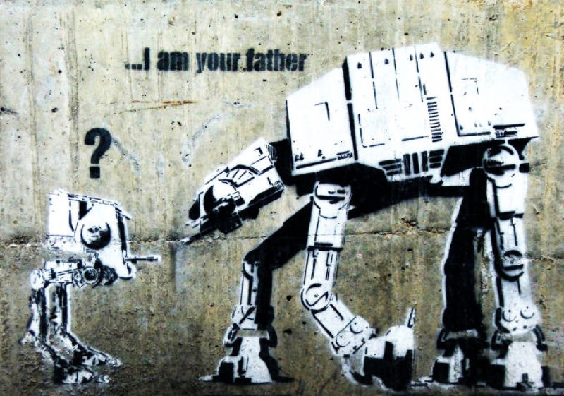 Tableaux sur toile, reproduction de Banksy, I am your father