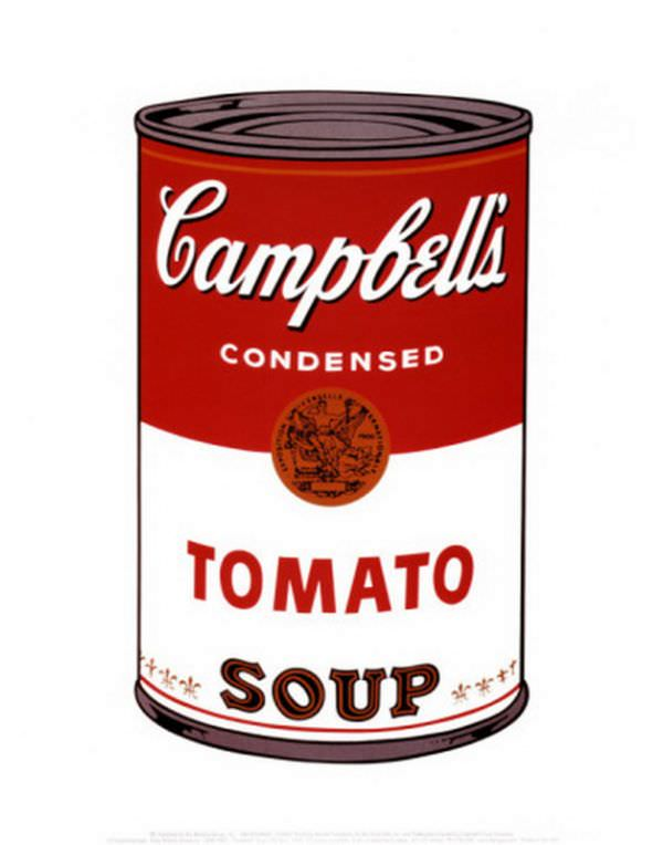 Tableaux sur toile, reproduction de Campbell tomato soup par Andy Warhol