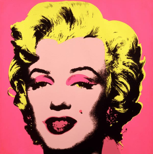 Tableaux sur toile, reproduction de Maryline par Andy Warhol