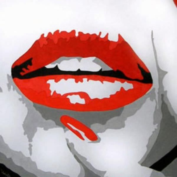 Tableaux sur toile, reproduction de Red lips