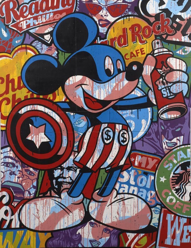 Tableaux sur toile, reproduction de Speedy Graphito, Captain Spray