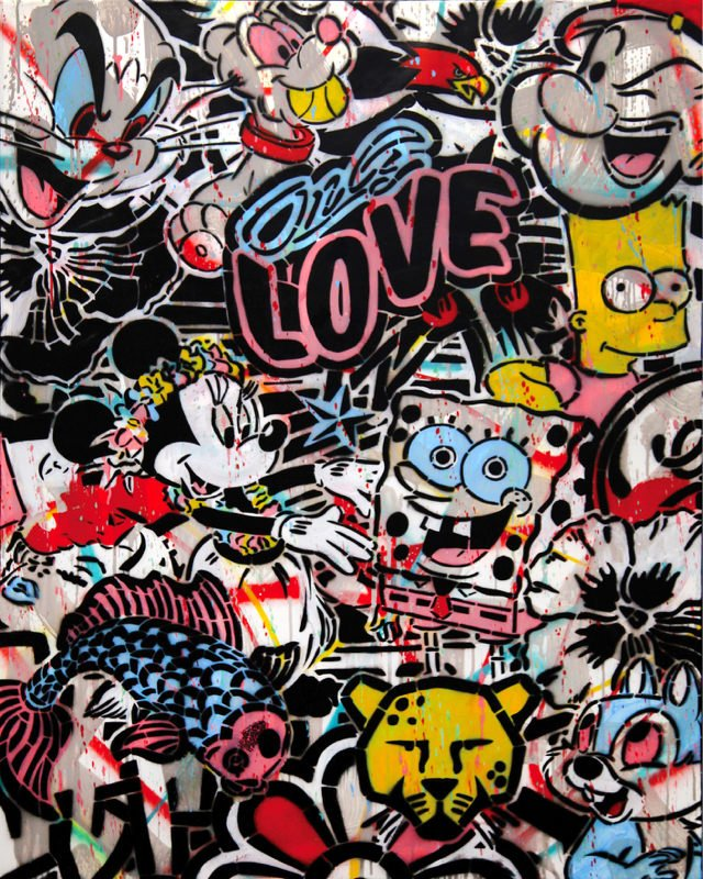 Tableaux sur toile, reproduction de Speedy Graphito, Only love